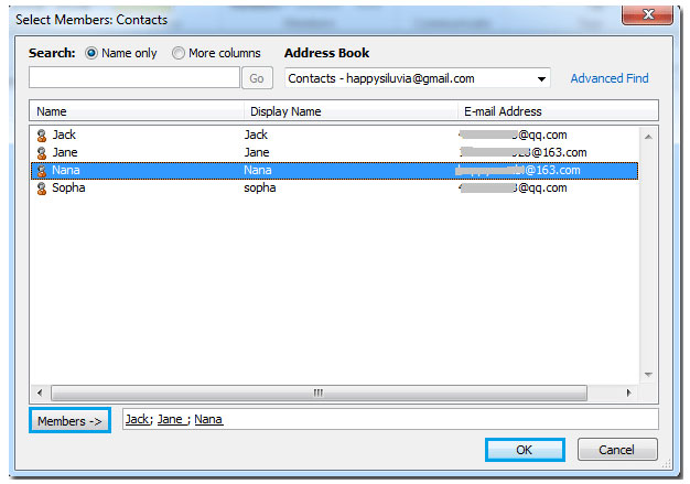 Outlook Distribution List