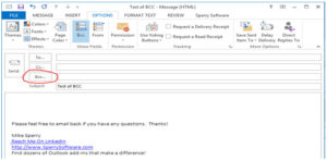 how to add bcc recipient in outlook