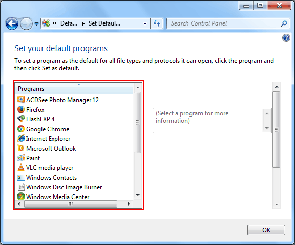 choose-the-default-programs