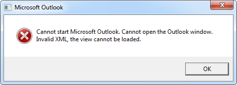 cannot open outlook