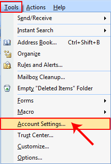choose account settings